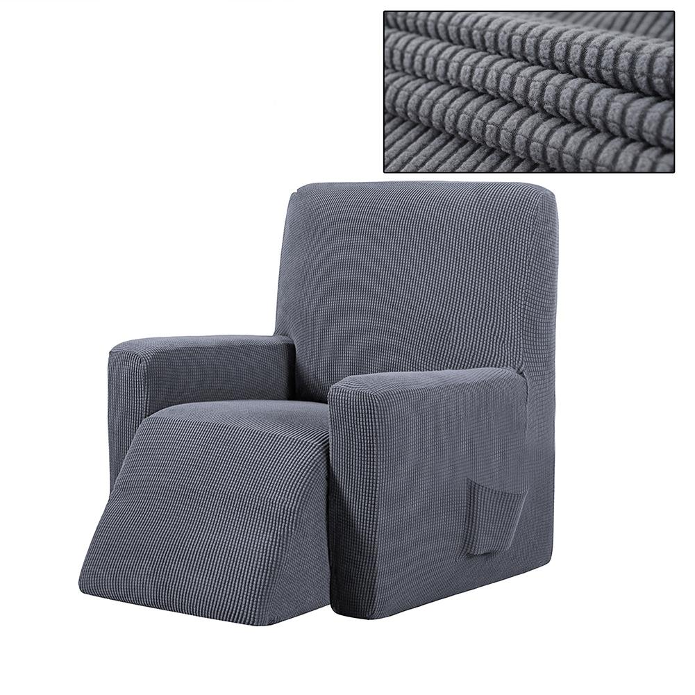 Housse canapé relax inclinable gris