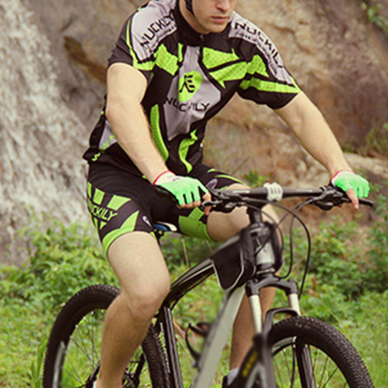 NUCKILY Cycling Short Sleeve Jersey + Shorts Set Bicycle Wear MTB Sports Clothes