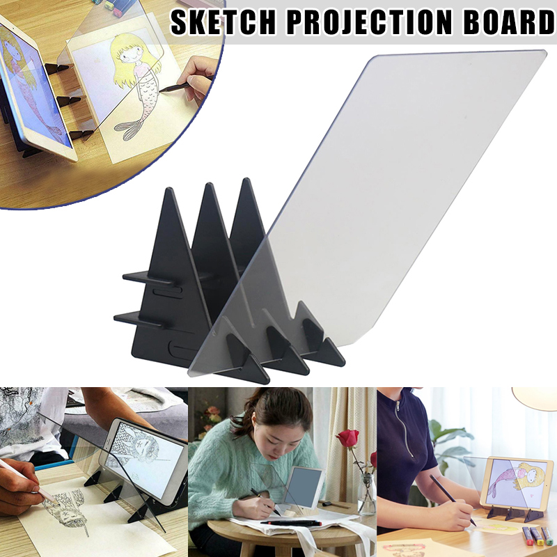 Newly Sketch Wizard Tracing Drawing Board Optical Draw Projector Painting Reflection Tracing Line Table Practical Painting BN99