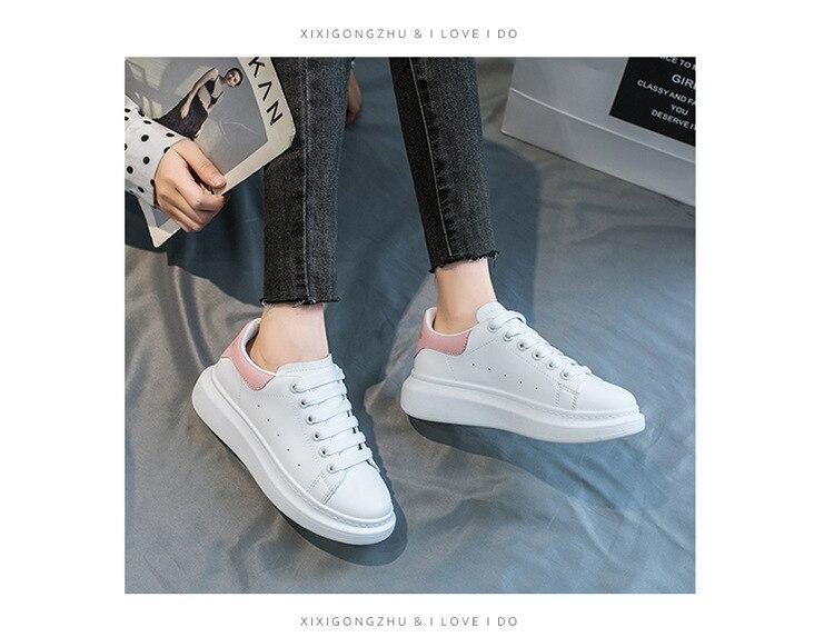 das mulheres sapatos lisos chunky heel plataforma sapatos femininos tênis
