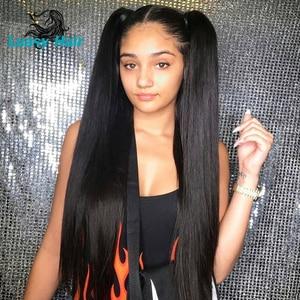 Image 1 - Luasy ברזילאי שיער Weave חבילות ישר 100% רמי הארכת שיער טבעי צבע 30 32 34 36 38 40 אינץ שיער טבעי חבילות