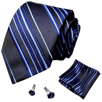 Gift Men Tie Purple Solid Silk Wedding For New Design Hanky Cufflink Quality Set Dropshipping