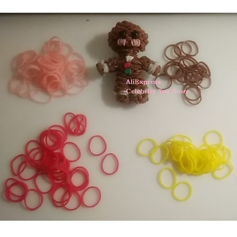 Loom Bands Rubber Bracelet For Kids Or Hair Rainbow Rubber Loom Bands Make Bracelet DIY Toys Christmas 2019 Gift