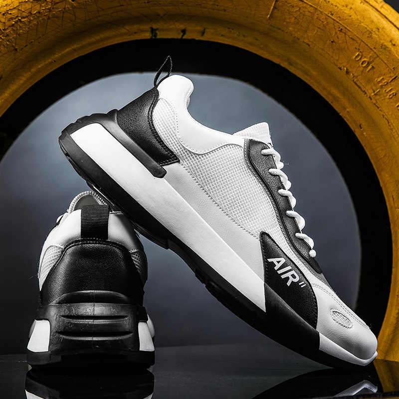 Marca de Moda de Nova Homens Sapatos Lace-Up dos homens Sapatos Casuais 2020 Outono Dos Homens Respiráveis Confortáveis Não-Deslizamento tênis para Caminhada ao ar livre