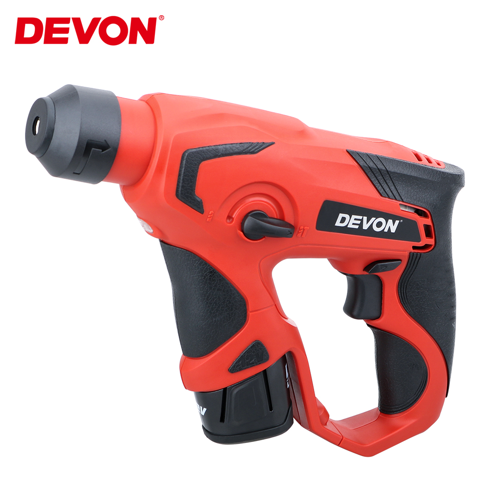 DEVON 12V <font><b>Cordless</b></font> Rotary Hammer Lithium-ion <font><b>Electric</b></font> Hammer <font><b>Impact</b></font> <font><b>Drill</b></font> <font><b>screwdriver</b></font> Professional Power Tools Rechargeable image
