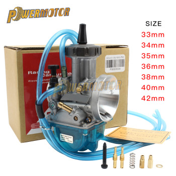 New Universal Motorcycle PWK Carburetor 33 34 35 36 38 40 42mm Racing Parts 2T 4T Engine Dirt Bike Scooter ATV Quad UTV Power