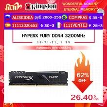 كينغستون HyperX FURY DDR4 2666 ميجا هرتز 8 جيجابايت 2400 ميجا هرتز 16 جيجابايت 3200 ميجا هرتز ذاكرة وصول عشوائي مكتبية ذاكرة DIMM 288 دبوس سطح المكتب الذاكرة الداخلية للألعاب