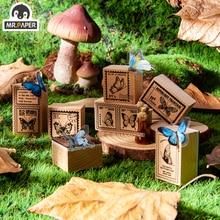Mr Paper 8Design Jungle Postmark Series Butterfly Seal Wooden Rubber Stamp Scrapbook Decoration Decoration DIY Craft Wooden Seal