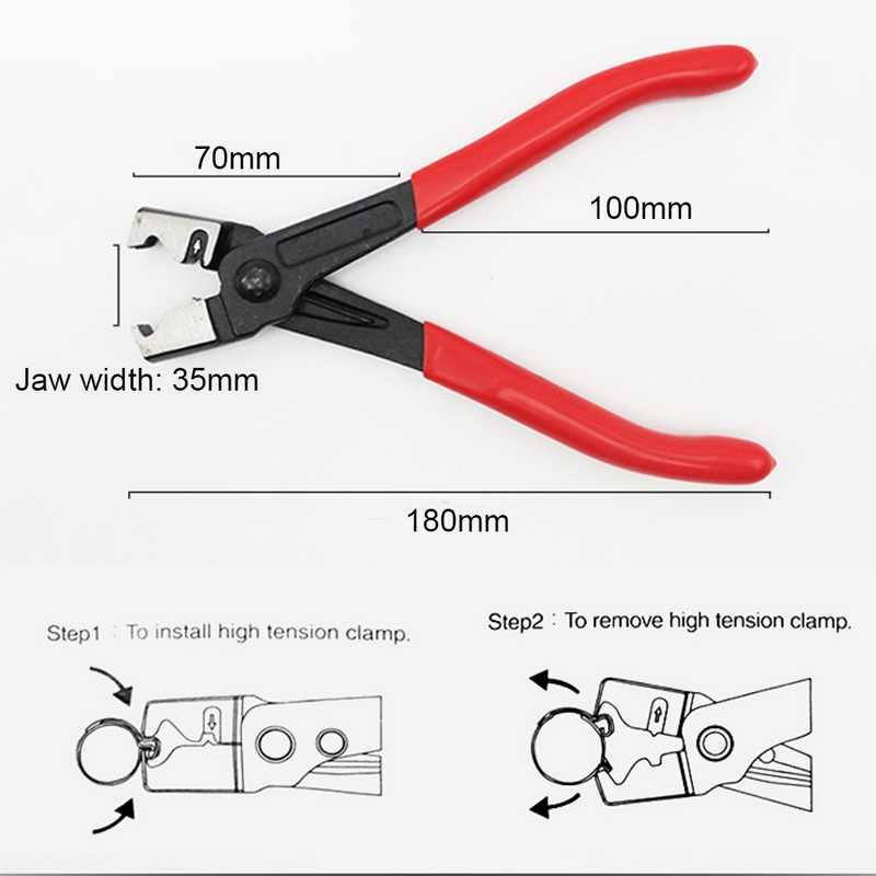 Schlauch Clip Zange R Typ Kragen Clamp Wasser Rohr CV Boot Clamp Sattel Auto Reparatur Hand Werkzeuge
