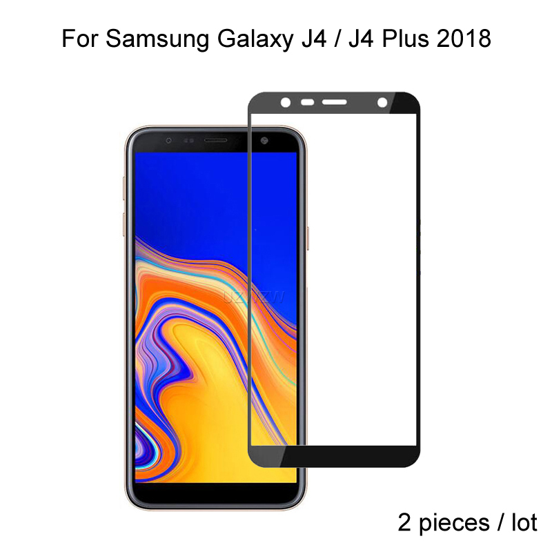 2pcs Full Cover Tempered Glass For Samsung Galaxy J4 Plus J4 2018 Screen Protector Protective Glass For Samsung J4 Plus 2018