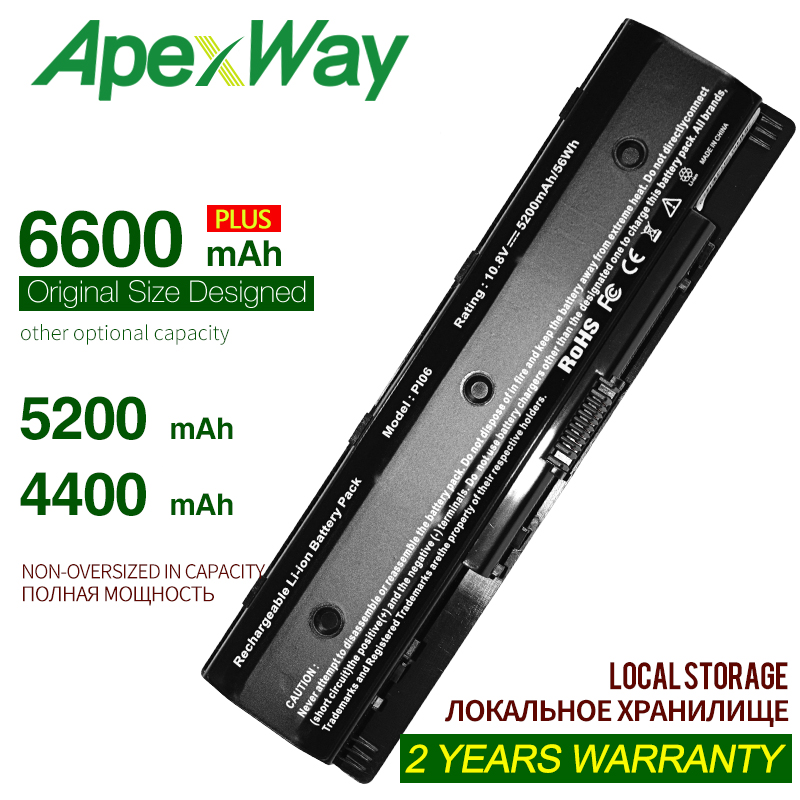 Laptop Battery For HP PI06 P106 PI09 PI06XL HSTNN-YB4O HSTNN-LB4O For HP ENVY M7 Series M7t M7z 709988-421 709988-541 710416-001