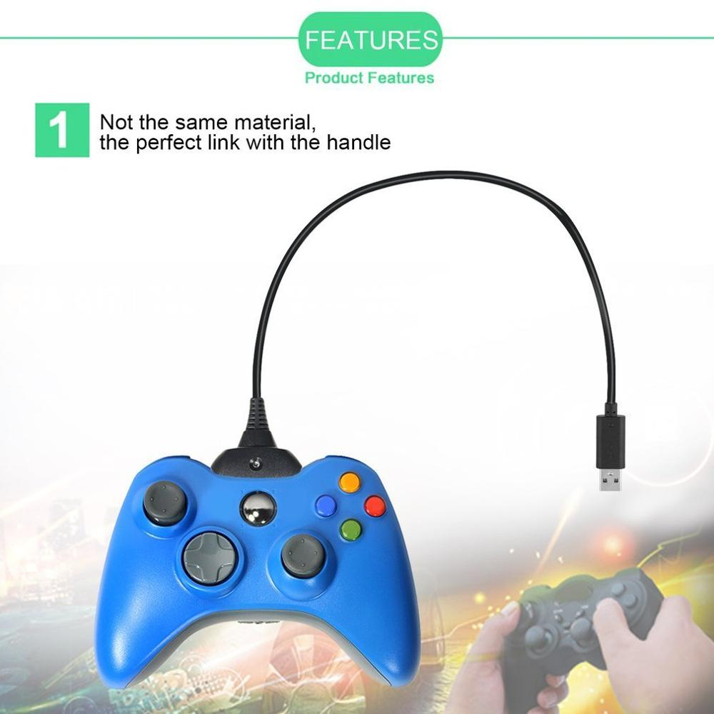 Super Long Charging Cable USB Charger Rechargeable Battery Pack Cable Cord Suitable for Xbox for 360 Controller Black