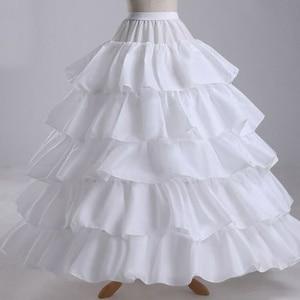 Image 5 - Wit 4 Hoop Wedding Baljurk Crinoline Bridal Petticoat Rok Onderrok