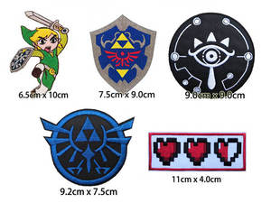 Clothing Badge Jacket Diy-Accessories Iron-On-Patch Mbroidered of Panel Link Game-Legend