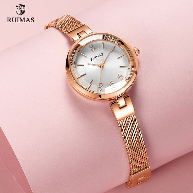 RUIMAS Luxury Quartz Watches Women Rose Gold