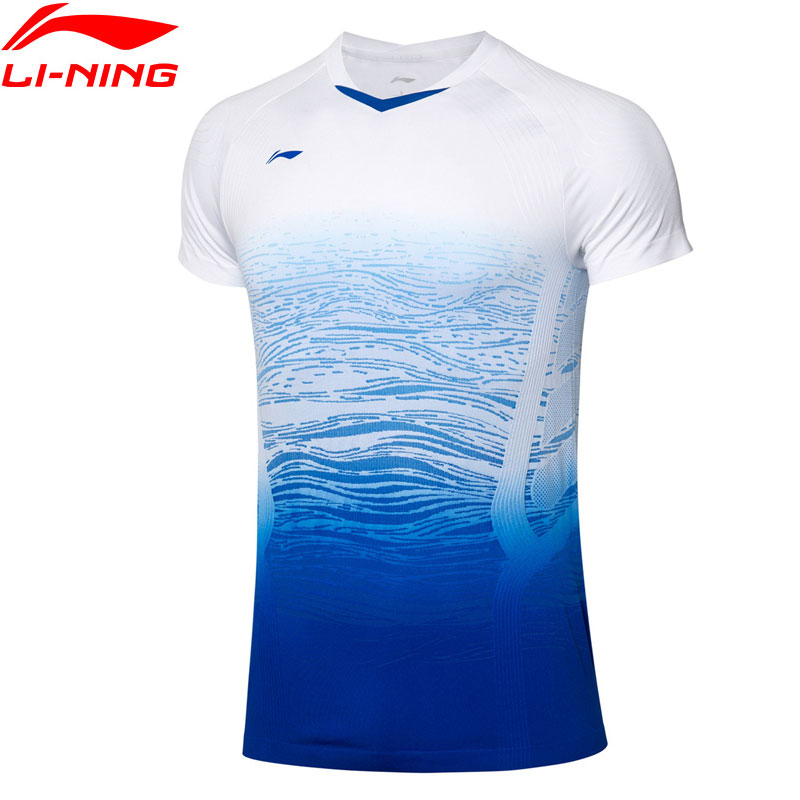 Li-Ning Men's Badminton Competition T-Shirts AT DRY Breathable Comfort Tops LiNing Li Ning Sports Tees T-Shirt AAYP329 MTS3151
