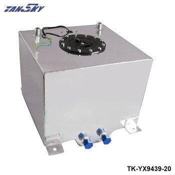 20L Aluminium Alloy Fuel Surge Tank With Sensor Fuel Cell Oil Catch Can Tank With Cap/ Foam Inside TK-YX9439-20