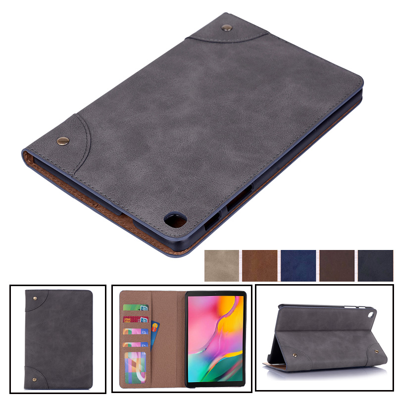 Case Cover For Samsung Galaxy Tab A 8.0 2019 T295 T290 SM-T295 Retro Leather Flip Case Tablet Smart Covert Sleep Wake Up Fundas