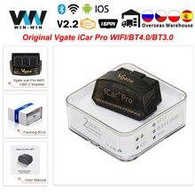 Oryginalny Vgate iCar Pro Bluetooth 4.0 ELM327 WIFI skaner OBD2 ELM 327 skanowanie dla androida/IOS OBD 2 OBD2 samochodów diagnostyczne narzędzia samochodowe