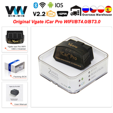 الأصلي Vgate iCar برو بلوتوث 4.0 ELM327 WIFI OBD2 الماسح الدردار 327 مسح ل أندرويد/IOS OBD 2 OBD2 سيارة التشخيص السيارات أدوات