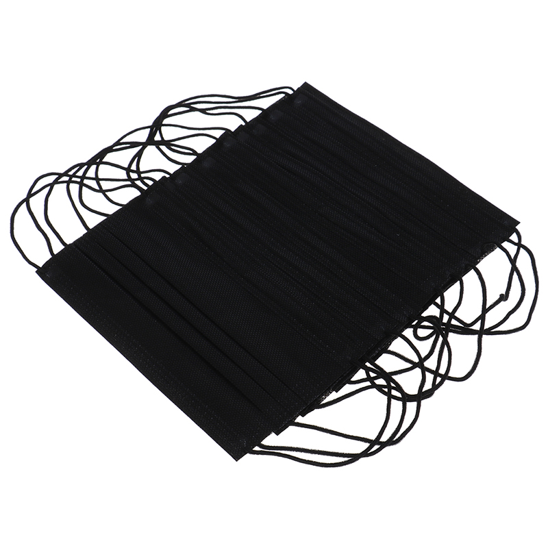 Image 3 - 10PCS Dustproof Facial Protective Cover Non Woven Masks Anti Dust  Disposable Surgical Medical Salon Earloop Face Mouth Masks  -