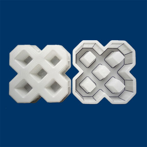 40*40 см DIY квадратной садовой дорожки бетонной Пластиковая форма для кирпича тротуарная пропиленовая тротуар садовая аллея аксессуары для з...