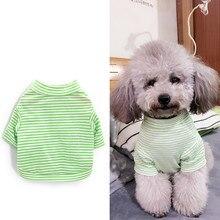 Модный костюм в полоску для питомцев, кошек, маленьких собак, кошек, одежда с милым щенком, котом, котенком, футболка, Летний жилет, рубашка, одежда для весны