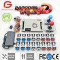 Pandora Game 3D Kit  2 игрока  оригинал  копия  SANWA  джойстик  хром  светодиодный  кнопка для DIY  аркадная машина  домашний шкаф с руководством