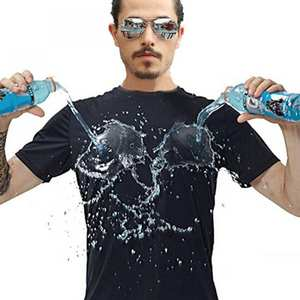 Top T-Shirt Anti-Dirty Waterproof Quick-Dry Breathable Solid Men Short Antifouling Round-Neck