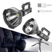 XHP50/XHP90 Powerful LED Flashlight Super Bright Portable Spotlights with Base Waterproof Searchlight USB Torch 5000/8000 Lumen