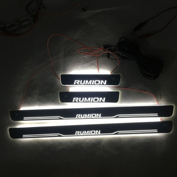 4pcs/set Applicable to Rumion LED Lighting Threshold Wear Resistant Plate Welcome Pedal Decoration for Toyota Corolla RUMION