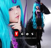 Deluxe Vocaloid Hatsune Miku Dress Cosplay Costume Miku Costume halloween party ball gown lace vintage dress