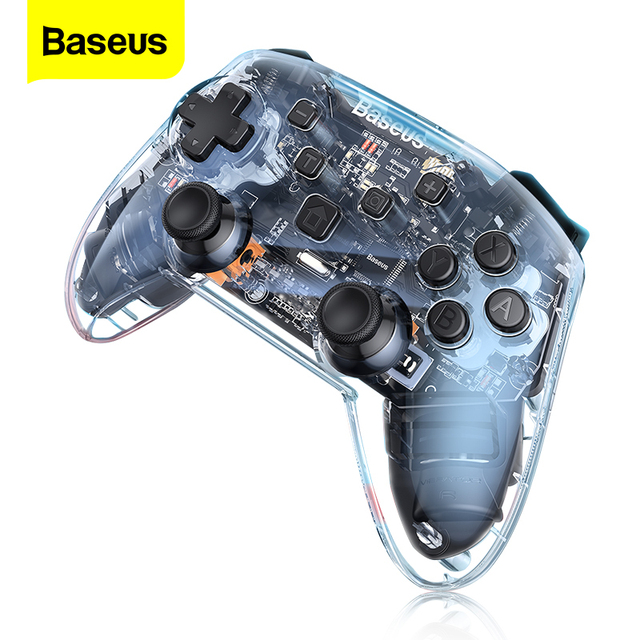 Baseus Gamepad Gamepad para Nintendo interruptor Bluetooth 6 Axis Vibrador Motion Sensor Joypad Controlador para Lite PC Chave