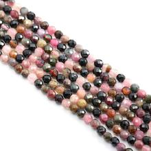 Natural Stone Beads Small Faceted Tourmaline 2,3,4,5mm Section Loose for Jewelry Making Necklace DIY Bracelet (38cm)