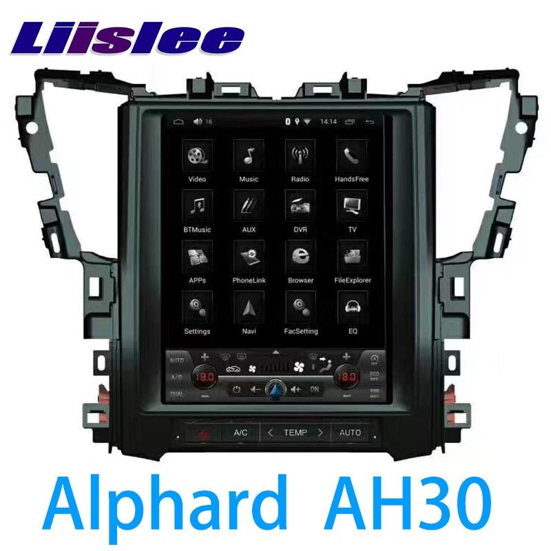 LiisLee coche Multimedia GPS de Audio de alta fidelidad, Radio estéreo para TOYOTA Alphard Vellfire AH30 2015 ~ 2018 Original estilo de navegación NAVI