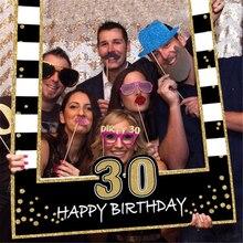 1 16 18 21 30 35 40 50 60 фоторамка на день рождения для детей и взрослых декоративная бумага для вечеринок с днем рождения фоторамка