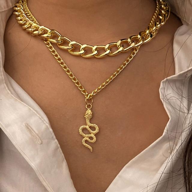 Gold color Choker Necklace for women Long moon Tassel Pendant Chain Necklaces & Pendants Laces velvet chokers Fashion Jewelry 5