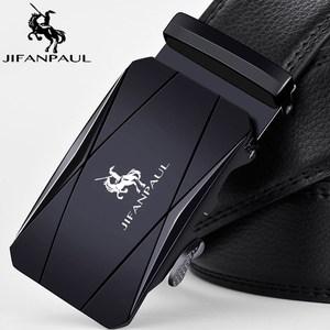 JIFANPAUL Genuine pure men's belt Brand Belt Men for Men,Strap Metal Automatic Buckle Top Quality Genuine Luxury Leather Belts