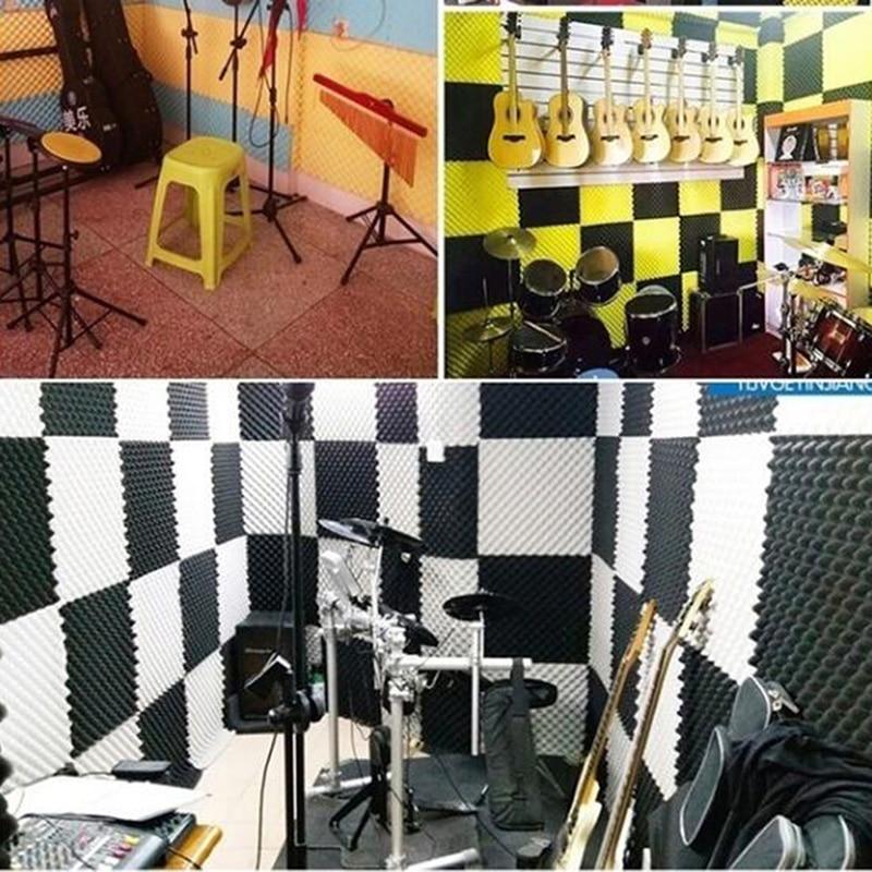 Panneaux acoustiques de Studio 3 pièces, mousse de son, insonorisation, éponge insonorisante, traitement pour Absorption