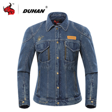 DUHAN Motorcycle Jacket Men Women Moto Denim Jacket Autumn Winter Cold-proof Motorcycle Clothing Whith Removable Cotton Lining