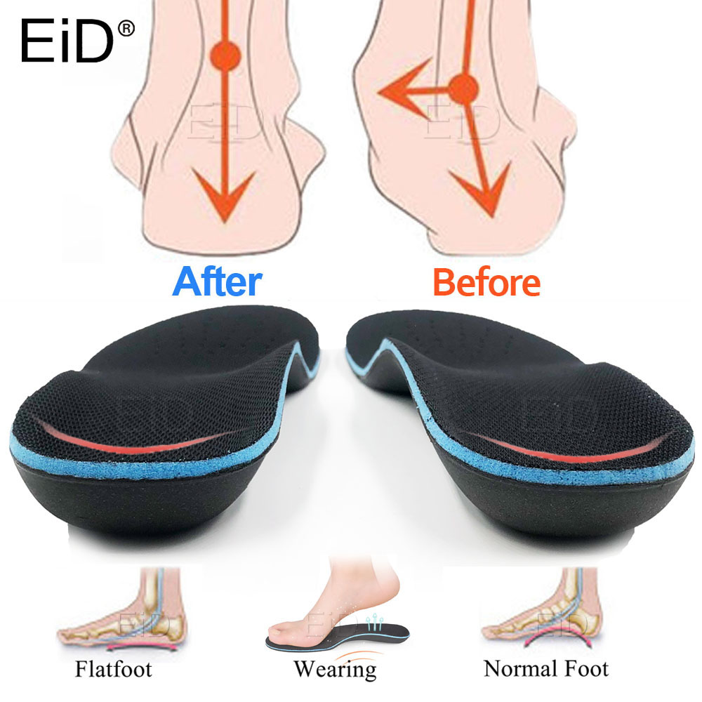 EiD Orthotic Insoles Arch Support EVA Shoe Insole Flat Feet Inserts Pad Orthopedic Insoles Foot Care Plantar Fasciitis Men Woman