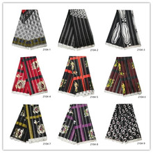 High quality digital printed wax design african satin Ribbon fabric ribbon silk pattern for party dres 2104