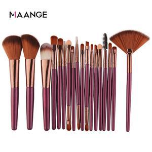 MAANGE 6/15/18Pcs Makeup Brushes Tool Set Cosmetic Powder Eye Shadow Foundation Blush Blending Beauty Make Up Brush Maquiagem(China)