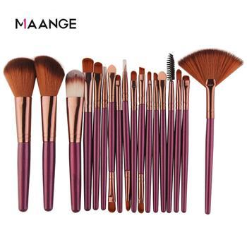 MAANGE 6 15 18Pcs makijaż szczotki zestaw narzędzi kosmetycznych proszek cień do powiek Fundacja Blush mieszanie piękno makijaż szczotka Maquiagem tanie i dobre opinie Włosy syntetyczne NYLON MAG5444 5445 5500 app 13 5-18 9cm Zestawy i zestawy Z tworzywa sztucznego Pędzel do makijażu