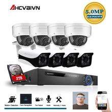 8CH 5MP NVR Wireless Wifi Audio Sound CCTV Security System 5MP Dome IR Cut Camera Home Surveillance Kit