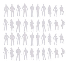 Set de 40 figuras sin pintar modelo persona modelo personas Diorama
