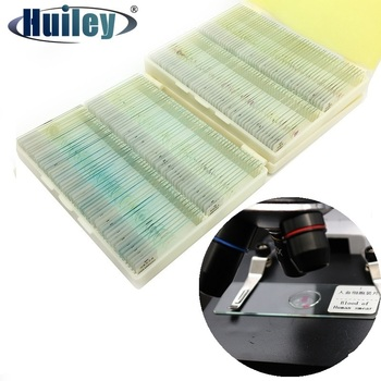 цена на Prepared Microscope Slides Glass Biological Specimen Animal Plant Human Tissue Slide for Student Education Studying 12 50 100