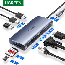 Ugreen Thunderbolt 3 Dock USB סוג C כדי HDMI רכזת מתאם עבור MacBook סמסונג דקס Galaxy S10/S9 USB C ממיר Thunderbolt HDMI
