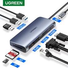 Ugreen Thunderbolt 3 Dock USB tipi C HDMI HUB adaptörü MacBook için Samsung Dex Galaxy S10/S9 USB C dönüştürücü Thunderbolt HDMI