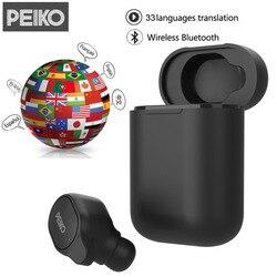 Volemer Peiko S Translation Headphones 33 Languages Voice Translator Wireless Bluetooth TWS Earphone 5.0 Translator Earphone